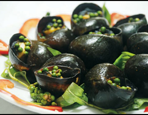 Grilled Green Pepper Snails