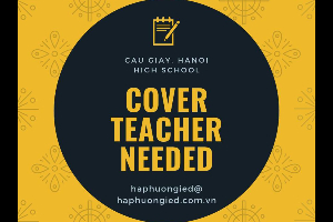 Cover Teachers Needed In Cau Giay, Hanoi