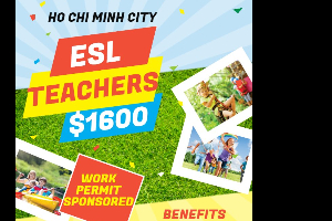 English Teacher Needed in Ho Chi Minh City